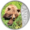2017 $10 Celebrating Canada's 150th: Grizzly Bear (British Columbia) - Pure Silver Coin