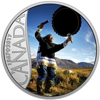 2017 $10 Fine Silver Coin - Celebrating Canada's 150th: Drum Dancing (Nunavut)