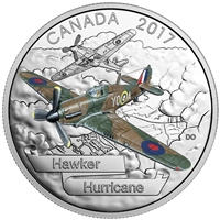 2017 $20 Aircraft of the Second World War: Hawker Hurricane - Pure Silver Coin
