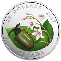 2017 $20 Little Creatures: Venetian Glass Dogbane Beetle - Pure Silver Coin