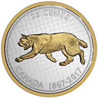 2017 25c Big Coin Series: Bobcat - 5 oz. Pure Silver Coin