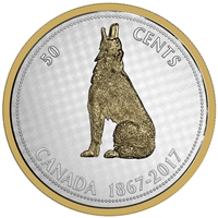 2017 50c Big Coin Series: Wolf