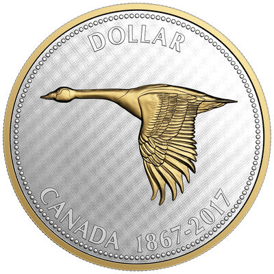 2017 $1 Big Coin Series: Goose - 5 oz. Pure Silver Coin