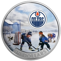 2017 $10 Passion to Play: Edmonton Oilers - Pure Silver Coin