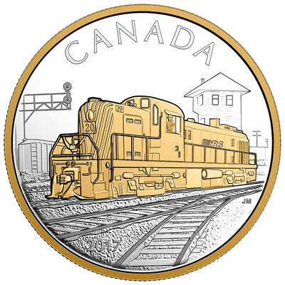 2017 $20 Locomotives Across Canada: The RS 20 - Pure Silver Gold-Plated Coin