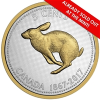 2017 5c Big Coin Series: Rabbit