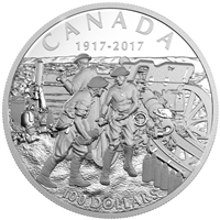 2017 $100 The Battle of Vimy Ridge, 100th Anniversary - Fine Silver Coin