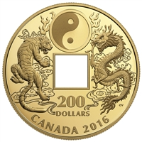 2016 $200 Tiger and Dragon Yin and Yang - Pure Gold Coin