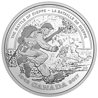 2017 $20 Second World War Battlefront Series: The Battle of Dieppe - Pure Silver Coin