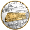 2017 $20 Locomotives Across Canada: The GE ES44AC - Pure Silver Gold-Plated Coin