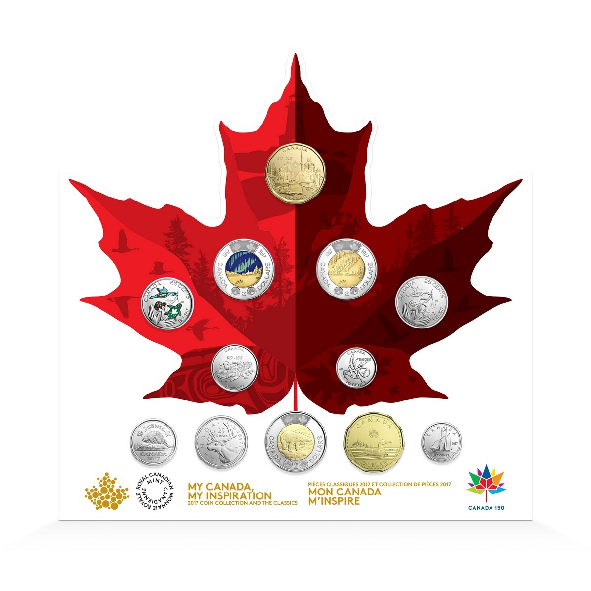 Canada 2017 5 Cent Coin 150 Years Celebration Our Passion Living Treadition.
