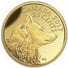 2017 25c Pure Gold Coin - Fox and Hare: Inuit Arctic Fox