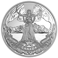 2017 $1 Canadian Confederation, 150th Anniversary - Proof Silver Dollar