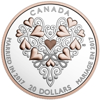 2017 $20 Best Wishes on Your Wedding Day! - Pure Silver Coin