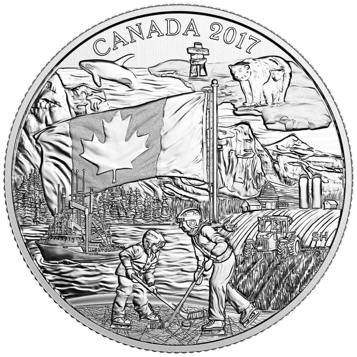 2017 Spirit of Canada Celebrating Canada/'s 150th Maple Leaf Flag $3 Pure Silver