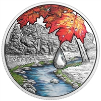 2017 $20 Jewel of the Rain: Sugar Maple Leaves - Pure Silver Coin