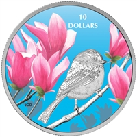 2017 $10 Birds Among Nature's Colours: Chickadee - Pure Silver Coin