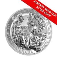 "2017 $100 The 1867 Confederation ""Juventas et Patrius Vigor"" - Pure Silver Coin"