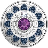 2017 $3 Zodiac Series: Aquarius - Pure Silver Coin