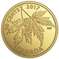 2017 50c The Silver Maple Leaf - Pure Gold Coin