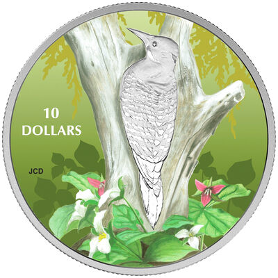2017 $10 Birds Among Nature's Colours: Northern Flicker - Pure Silver Coin