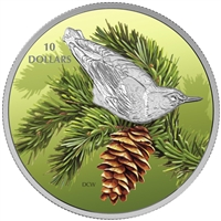 2017 $10 Birds Among Nature's Colours: Nuthatch - Pure Silver Coin
