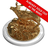2017 $100 Sculpture of Majestic Canadian Animals: Elk - Pure Silver Coin
