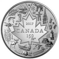2017 $3 Heart of our Nation - Pure Silver Coin