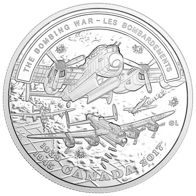 2017 $20 The Bombing War: Second World War - Battlefront Series - Pure Silver Coin