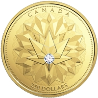 2017 $250 Celebrating Canadian Brilliance - Pure Gold Coin with Forevermark Diamond