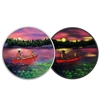 2017 $15 Great Canadian Outdoors: Sunset Canoeing - Pure Silver Glow-in-the-Dark Coin