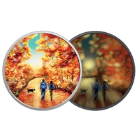 2017 $15 Great Canadian Outdoors: Nature Walk at Sunrise - Pure Silver Glow-in-the Dark Coin