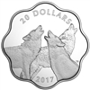 2017 $20 Master of the Land: Timber Wolf - Pure Silver Coin