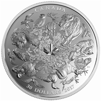 2017 $30 Flora and Fauna of Canada - Pure Silver Coin