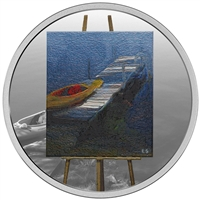 2017 $20 En Plein Air: A Paddle Awaits - Pure Silver Coin