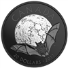 2017 $20 Nocturnal by Nature: The Little Brown Bat - Rhodium Plated Pure Silver Coin