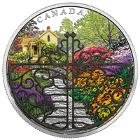 2017 $30 Gate to Enchanted Garden - Pure Silver Coin