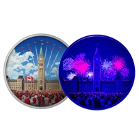 2017 $30 Celebrating Canada Day - Pure Silver Glow-in-the-Dark Coin with Bonus Black Light