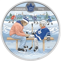 2018 $10 Learning to Play: Toronto Maple Leafs - Pure Silver Coin