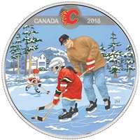 2018 $10 Learning to Play: Calgary Flames - Pure Silver Coin