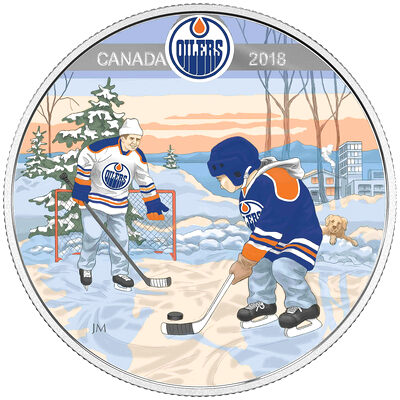2018 $10 Learning to Play: Edmonton Oilers - Pure Silver Coin