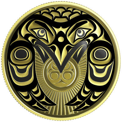 2017 $100 Raven Brings the Light - 14-kt. Gold Coin