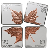 2018 $3 Maple Leaf Quartet: Thirty Years - Pure Silver Coin Set
