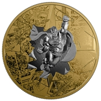 2017 $50 DC Comics Originals: The Brave and the Bold - Pure Silver Gold-Plated Coin