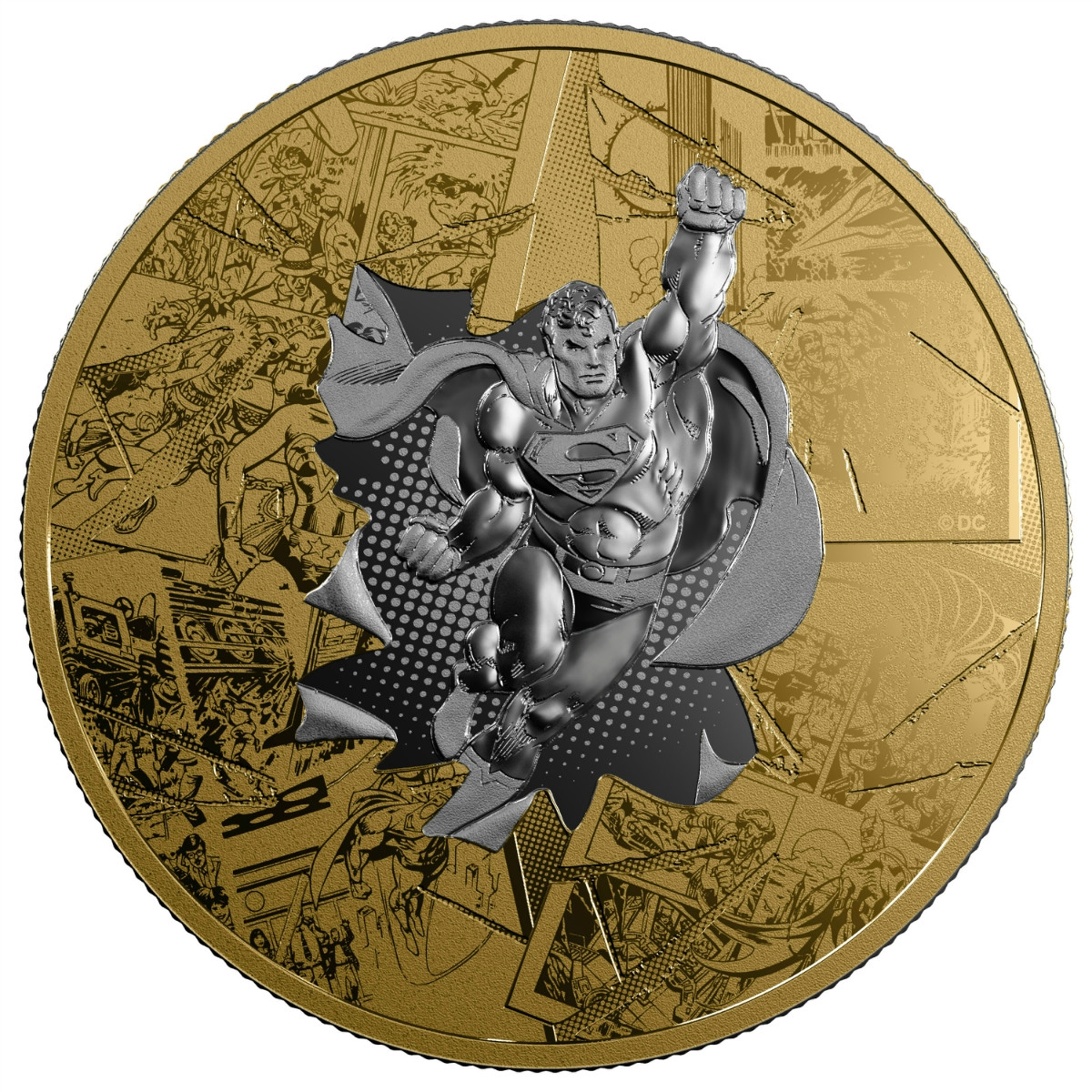 DC Comics Originals TM Fine Silver Coin 2015 Canada $10 Gauntlet