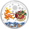 2018 $20 Holiday Reindeer - Pure Silver Coin