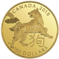 2018 $150 Year of the Dog - 18-kt Gold Coin
