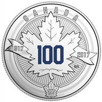 1917-2017 $3 100th Anniversary of Toronto Maple Leafs - Pure Silver Coin