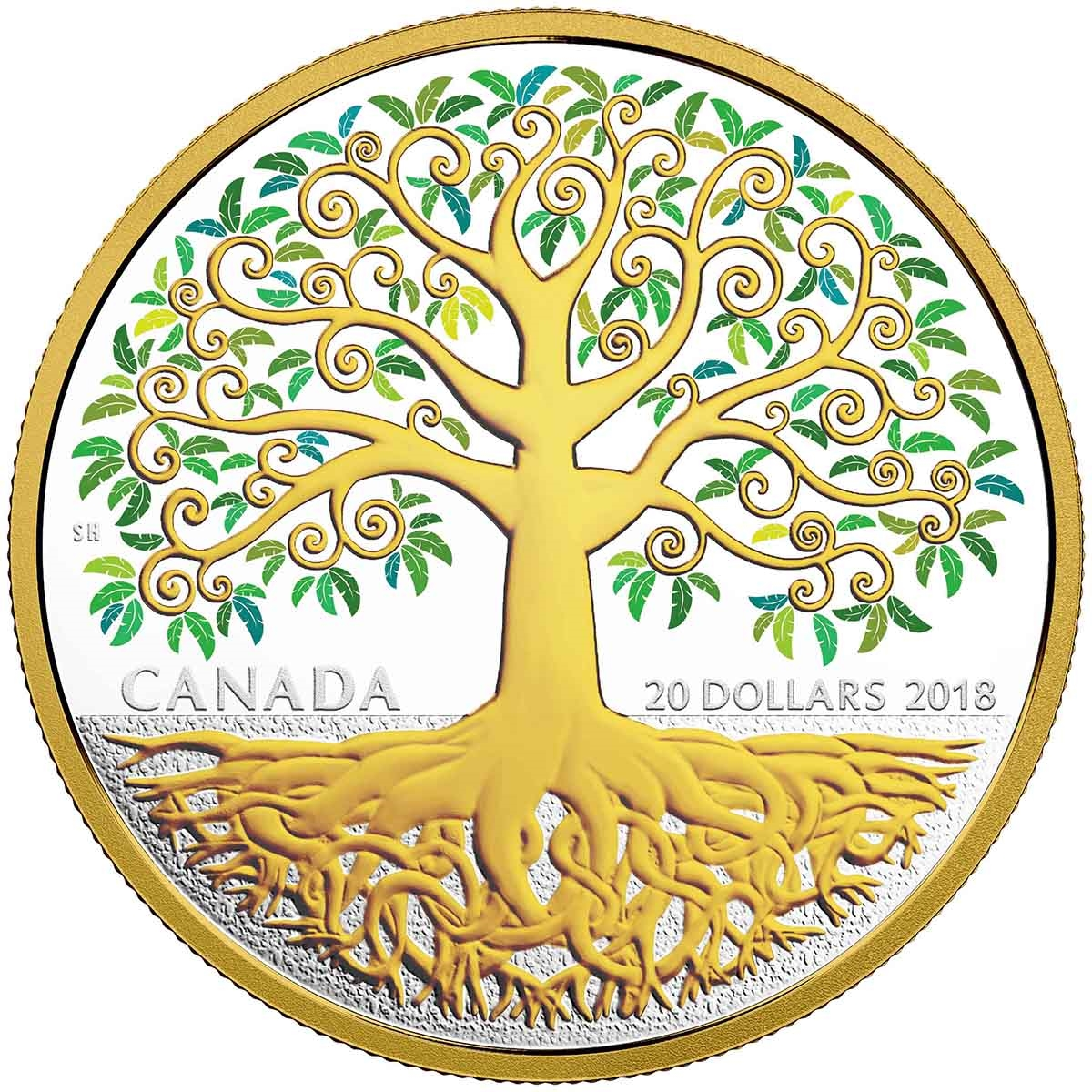 2018 20 tree of life pure silver coin
