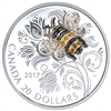2017 $20 Bejeweled Bugs: Bee - Pure Silver Coin